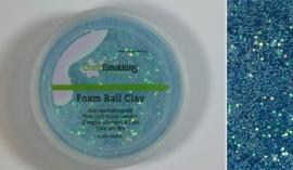 Foamball clay - luchtdrogende klei - lichtblauw glitter 30gr