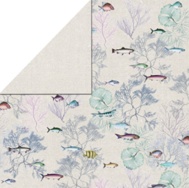 FabScraps - Fish 2 - 12 x 12 Double Sided Paper
