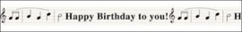 "Ribbon met tekst ""Happy Birthday"" - per rol"