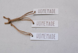 "Label metal ""HOMEMADE"" 7X2 cm"