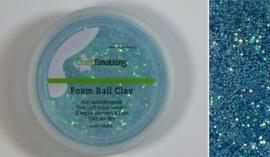 Foamball clay - luchtdrogende klei - lichtblauw glitter 15gr