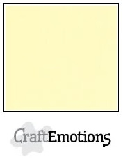 CraftEmotions linnenkarton geel 30,5x30,5cm
