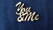 You & Me 7 cm breed 6 cm hoog (3mm dik houtboard) per stuk