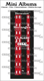 Crealies stans Mini Albums Decoratie rechthoekjes CLMA98 3x145 mm