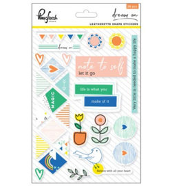 Pinkfresh Studio Dream On: Leatherette shape stickers