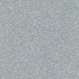 Glitterpapier dun zilver - per vel