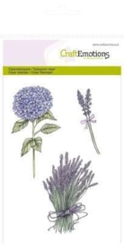 Clearstamps A6 - hortensia en lavendel Romantic Provence