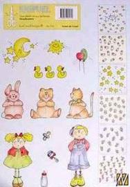 Knipvel A4 Leane Creatief-716 Knipvel draaikaarten: baby/kinder motieven