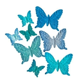 ScrapBerry's Set Of Butterflies 8 pcs Pastel Blue (SCB300701)