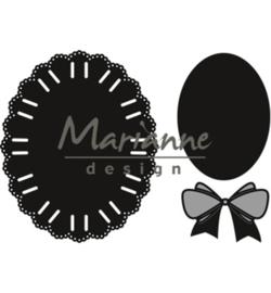 Marianne D CR1458 - Oval ribbon die