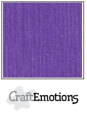 CraftEmotions linnenkarton - purper violet LHC-54 A4 250gr