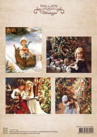 A4 sheet Christmas colour vintage cozy Christmas