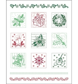 Clear Stamps - Christmas Patchwork