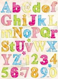 Chipboard alfabet - CB-3002
