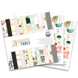 Piatek13 - Paper pad Around the table 12x12 P13-TAB-08 12x12