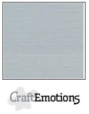 CraftEmotions linnenkarton grijs 30,5x30,5cm
