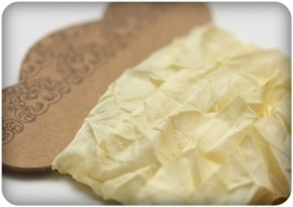ScrapBerry's Shabby Ribbon Light Yellow 15 mm 1 m (SCB510104)