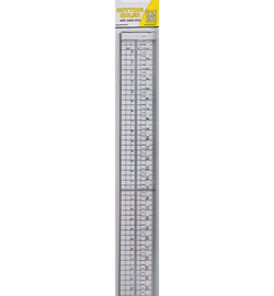 Nellie`s Choice - 2149H - Cutting ruler with metal strip 30cm