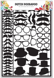 Dutch Doobadoo Dutch Paper Art Black - Mustaches