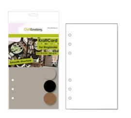 CraftEmotions karton kraft Ringband mix 12 vel 12x20,5cm - 220 gr - 6 Ring A5