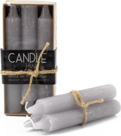 Candle Junkie doosje met 6 dinerkaarsen - Light Grey