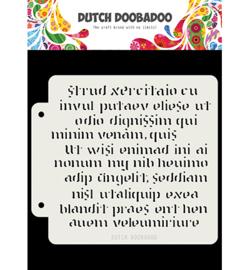 Dutch Doobadoo - 40481 - Script