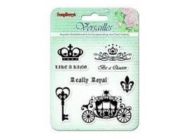ScrapBerry's Set Of Clear Stamps 10,5 x 10,5 cm Versailles Like A King (SCB4901003b)