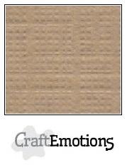 CraftEmotions linnenkarton kaki 30,5x30,5cm