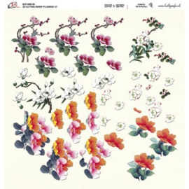 Crea Motion - 30x30 - 3D knipvel - Flowers 12