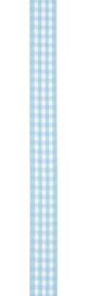 Vivant Lint Small check fijn geruit lichtblauw - 9 MM - per meter