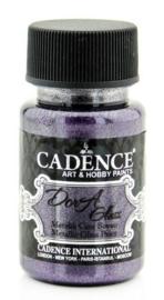 Cadence Dora Glas & Porselein verf Metallic Dark orchid 01 013 3139 0050 50 ml