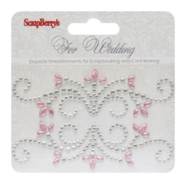 ScrapBerry's Curls For Wedding 1 Strass Swirl (SCB250001078)