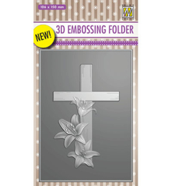 Nellie`s Choice - EF3D010 - Cross with lilies
