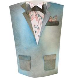 Verpakkings sjabloon,30x30cm Heren jas