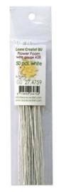 LeCrea - Flower Foam paper wrapped wire #28 50st white 27.4759 36cm