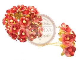 Sweetheart Blossom Flowers - Burgundy