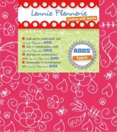 Lennie Flennerie - Adds - Stof 50x70cm Pink Lennie Flennerie 203.301.003