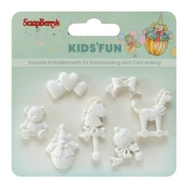 ScrapBerry's Set Of Polymer Items Kids'Fun 3 (SCB26001012)