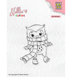 Nellie`s Choice - NCCS013 - Christmas Owl with winter-scarf
