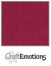 CraftEmotions linnenkarton - bordeaux LHC-25 A4 250gr
