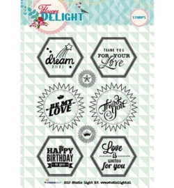 Studio Light Clearstempel A6 Flower Delight nr 96 STAMPFD96