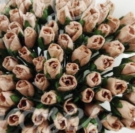 Tiny Rose Buds - Taupe