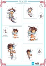 Card Topper Don & Daisy - Winter 1 - DDK3211