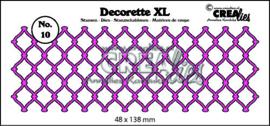 Crealies Decorette XL no. 10 gevlochten draadwerk 48x138 mm / CLDRXL10