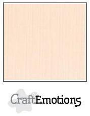 CraftEmotions linnenkarton crème 27x13,5cm 250gr