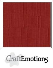 CraftEmotions linnenkarton donkerrood 30,5x30,5cm