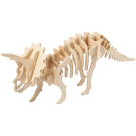 Triceratops - 3D Hout constructieset met APP