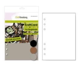 CraftEmotions karton kraft Ringband mix 12 vel 14,5x20,5cm - 220 gr - 6 Ring A5