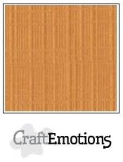 CraftEmotions linnenkarton toffee 30,5x30,5cm