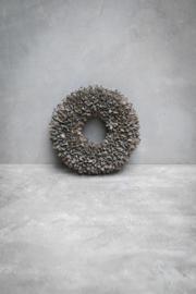 Bakuli wreath - 30 cm - Grey Wash